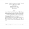 Minimum Weight Euclidean Matching and Weighted Relative Neighborhood Graphs