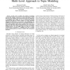 Mining Human Location-Routines Using a Multi-Level Approach to Topic Modeling