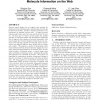 Mining, indexing, and searching for textual chemical molecule information on the web