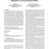 Mining linguistic cues for query expansion: applications to drug interaction search