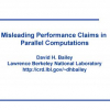 Misleading performance claims in parallel computations