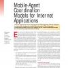 Mobile-Agent Coordination Models for Internet Applications