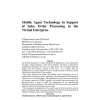 Mobile agent technology in support of sales order processing in the virtual enterprise
