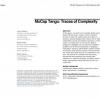 MoCap Tango: Traces of Complexity