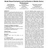 Model based estimation and verification of mobile device performance
