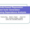 Model-based regression test suite generation using dependence analysis