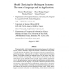 Model Checking for Multiagent Systems: the Mable Language and its Applications