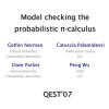 Model checking the probabilistic pi-calculus