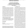 Model-driven development of component-based adaptive distributed applications