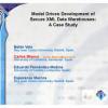 Model driven development of secure XML data warehouses: a case study