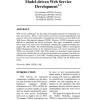 Model-Driven Web Service Development
