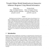 Model identification in interactive influence diagrams using mutual information