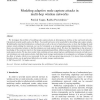 Modeling adaptive node capture attacks in multi-hop wireless networks