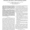 Modeling and analyzing the effects of firewalls and NATs in P2P swarming systems