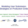 Modeling user submission strategies on production grids