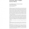 Modelling Peer-to-Peer Data Networks Under Complex System Theory