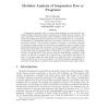 Modular Analysis of Suspension Free cc Programs