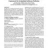 Modular domain-specific implementation and exploration framework for embedded software platforms