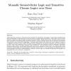 Monadic Second-Order Logic and Transitive Closure Logics over Trees