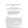 More on Presumptions and Burdens of Proof