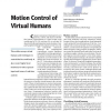 Motion Control of Virtual Humans