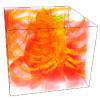 Multi-domain, Higher Order Level Set Scheme for 3D Image Segmentation on the GPU