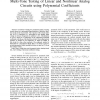 Multi-tone Testing of Linear and Nonlinear Analog Circuits Using Polynomial Coefficients