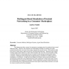 Multiagent-based simulation of societal networking in a consumer marketplace