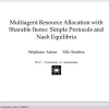 Multiagent resource allocation with sharable items: simple protocols and Nash equilibria
