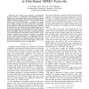 Multihop-enabled orthogonalization in Distributed MIMO Networks