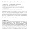 Multiple tasks manipulation for a robotic manipulator