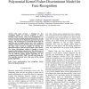 Multiresolution Feature Based Fractional Power Polynomial Kernel Fisher Discriminant Model for Face Recognition