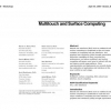 Multitouch and surface computing