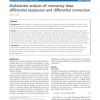 Multivariate analysis of microarray data: differential expression and differential connection