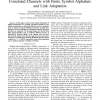 Mutual Information of MIMO Transmission over Correlated Channels with Finite Symbol Alphabets and Link Adaptation