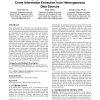 Natural language processing and e-Government: crime information extraction from heterogeneous data sources