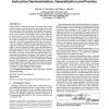 Natural methods for robot task learning: instructive demonstrations, generalization and practice