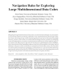 Navigation Rules for Exploring Large Multidimensional Data Cubes