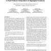 Near-optimal communication-time tradeoff in fault-tolerant computation of aggregate functions