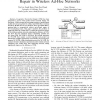 Network Coding Based Cooperative Peer-to-Peer Repair in Wireless Ad-Hoc Networks
