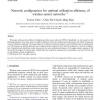 Network configuration for optimal utilization efficiency of wireless sensor networks