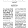 Neural Network-Based Approach for Adaptive Density Control and Reliability in Wireless Sensor Networks