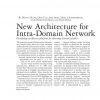 New architecture for intra-domain network security issues