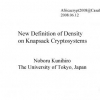 New Definition of Density on Knapsack Cryptosystems