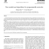 New models and algorithms for programmable networks