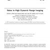 Noise in high dynamic range imaging