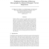 Nonlinear Filtering of Electron Micrographs by Means of Support Vector Regression
