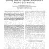 Nonparametric Belief Propagation Based on Spanning Trees for Cooperative Localization in Wireless Sensor Networks
