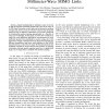 Nonuniform Array Design for Robust Millimeter-Wave MIMO Links