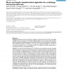 Novel and simple transformation algorithm for combining microarray data sets